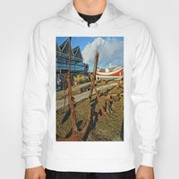 anchors Hoodies featuring Abandoned anchors by Ricarda Balistreri