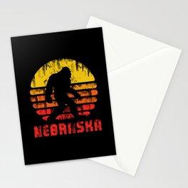 Bigfoot Nebraska State Stationery Cards
