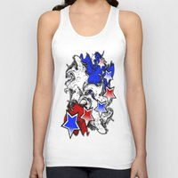 american Tank Tops featuring AMERICAN  by Robleedesigns