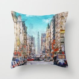 Buenos Aires colors Throw Pillow