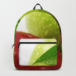 Fresh red and Green Appel in contrasts Backpack