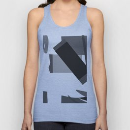 Matisse Inspired Black and White Collage Unisex Tank Top