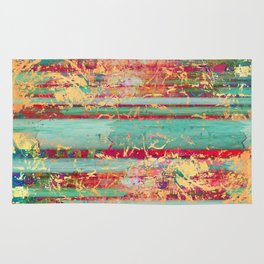 Copper Grunge Turquoise Rug