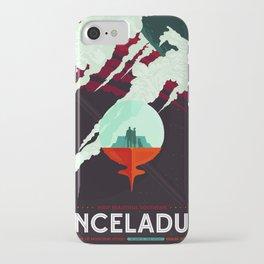 Vintage poster -Enceladus iPhone Case