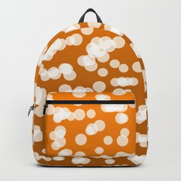 Blurry Lights: Deep Orange Backpack