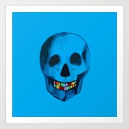 The humorous death  Art Print