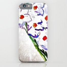 Watercolor White Flowers Abstract iPhone Case