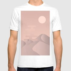 Rose gold desert White Mens Fitted Tee MEDIUM