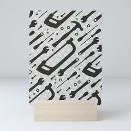 Tools Pattern Mini Art Print