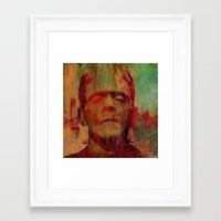frankenstein Framed Art Prints featuring frankenstein by Ganech joe