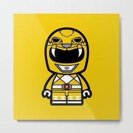 Power Chibi Yellow Ranger Metal Print