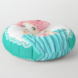 Cupcake Girl Floor Pillow