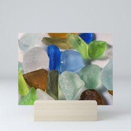 Colorful New England Beach Glass Mini Art Print