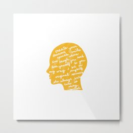 Head profile with positive attitude Metal Print