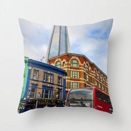 The Shard London Bridge Tower England Throw Pillow