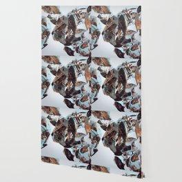 White Bird Skull Wallpaper
