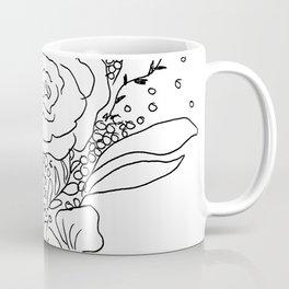 Floral Sketch Coffee Mug