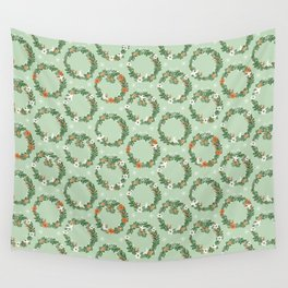 Christmas Wreath Wall Tapestry