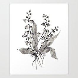 GREYSCALE BOTANICALS Art Print