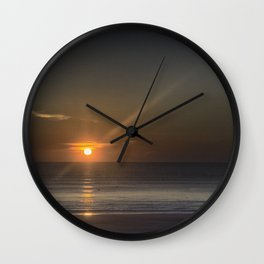 Breaking Dawn Daytona Beach Wall Clock