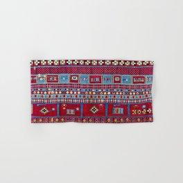 Tunisian Flatweave Antique Tribal Rug Print Hand & Bath Towel