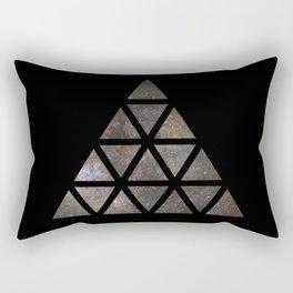 Galaxy Triangular Multicolor Rectangular Pillow