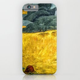 Fields of Gold, Tuscany, Italy landscape by Paul Serusier iPhone Case