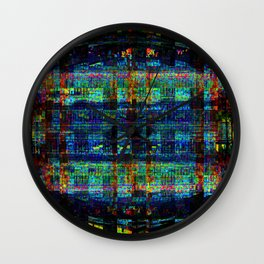 """Conical Weaver Vapour Grid"" Wall Clock"