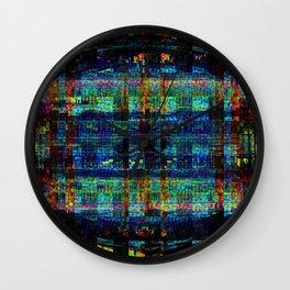 """Conical Weaver Vapour Grid"" Wall Clock"