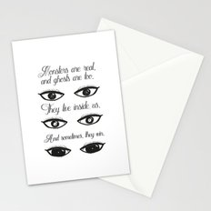 Monsters and ghosts Stationery Cards