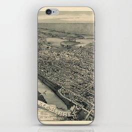 Map Of Wilkes Barre 1889 iPhone Skin