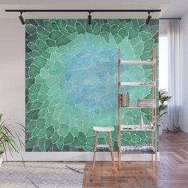 Abstract Sea Glass Wall Mural