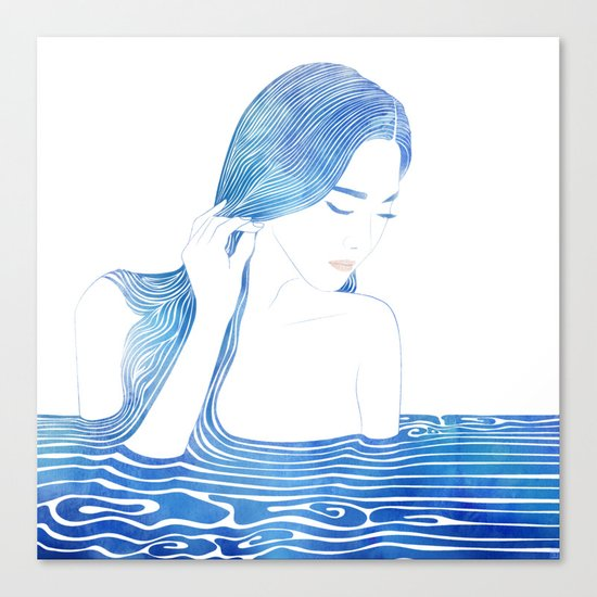 Water Nymph LXIX Canvas Print