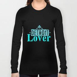 Detroit lover | Michigan logo Lettering Long Sleeve T-shirt