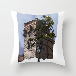 Tower of the palace (color) Throw Pillow