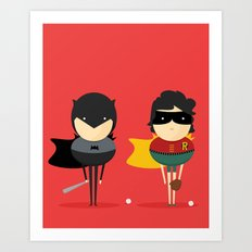 Heroes & super friends! Art Print