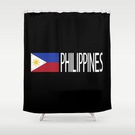 Philippines: Filipino Flag & Philipinnes Shower Curtain