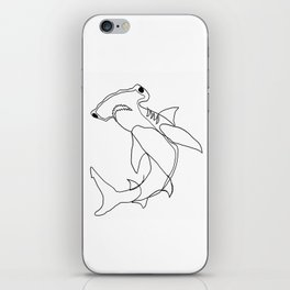 Hammerhead Shark (white) iPhone Skin