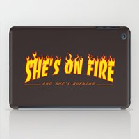 scarface iPad Cases featuring Scarface She's on Fire  by D-fens