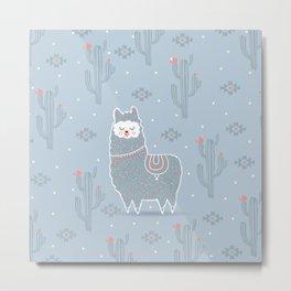 Alpaca winter Metal Print