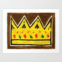 crown Art Prints featuring Crown by Briony Smith