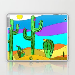 Southwest Desert Scene with Cactus and Sun Laptop & iPad Skin