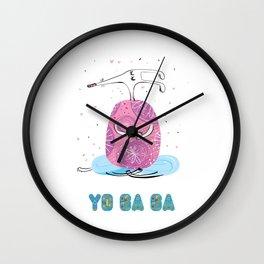 Yoga Dog - Meditation Wall Clock