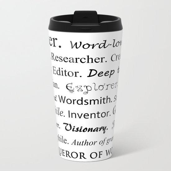 Writer Metal Travel Mug