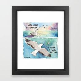Bird no. 485: The Energy Framed Art Print