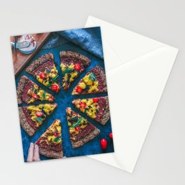 Cauliflower Vegan Pizza Stationery Cards