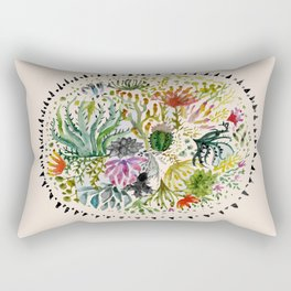 Succulents Mandala Rectangular Pillow