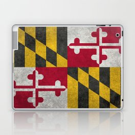 State flag of Flag of Maryland, Vintage retro style Laptop & iPad Skin