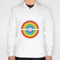 pokeball Hoodies featuring Rainbow Pokeball by Hi 5 Graphics