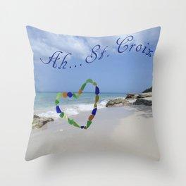 Ah St. Croix Throw Pillow